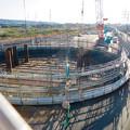 Photos: 神領車両区近くに建設中の丸い建物 - 6