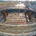 Photos: 神領車両区近くに建設中の丸い建物 - 7