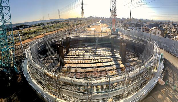 神領車両区近くに建設中の丸い建物 - 8