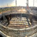 Photos: 神領車両区近くに建設中の丸い建物 - 8