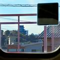名鉄各務原線の車内(犬山遊園駅)から見えた犬山城