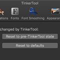 TinkerTool 7.42:リセット設定