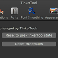 Photos: TinkerTool 7.42:リセット設定