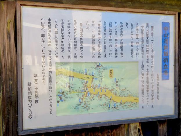 新加納 高札場跡 - 4:中山道 新加納 立場(たてば)の説明