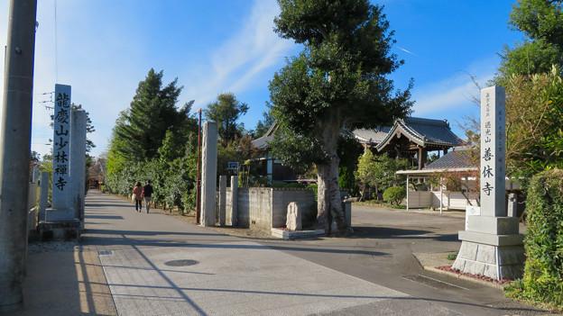 中山道 間の宿 新加納 No - 5:善休寺と少林寺の入り口