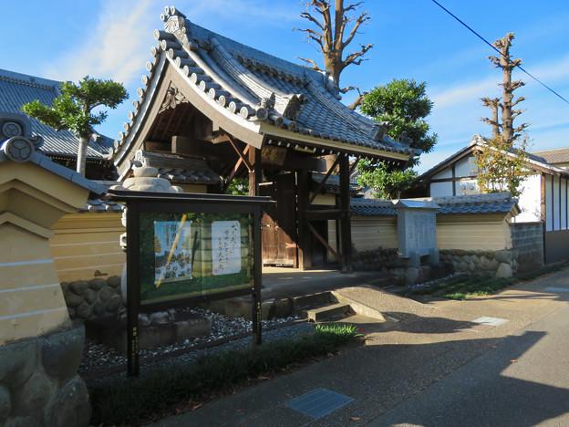 中山道 間の宿 新加納 No - 9:善休寺の山門