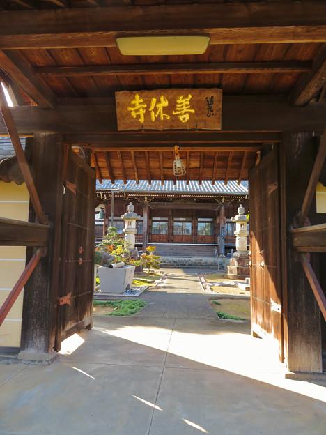 中山道 間の宿 新加納 No - 11:善休寺の山門