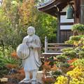 Photos: 中山道 間の宿 新加納 No - 13:善休寺の親鸞聖人像?