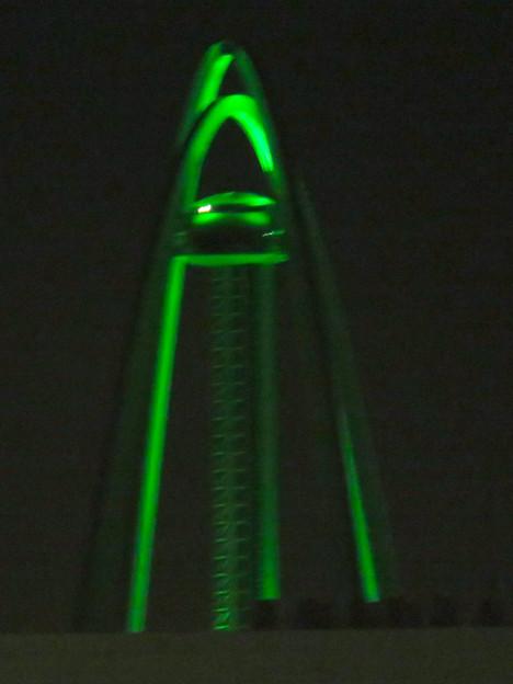 イオンモール各務原最上階駐車場から見た夜景 - 3:ツインアーチ138
