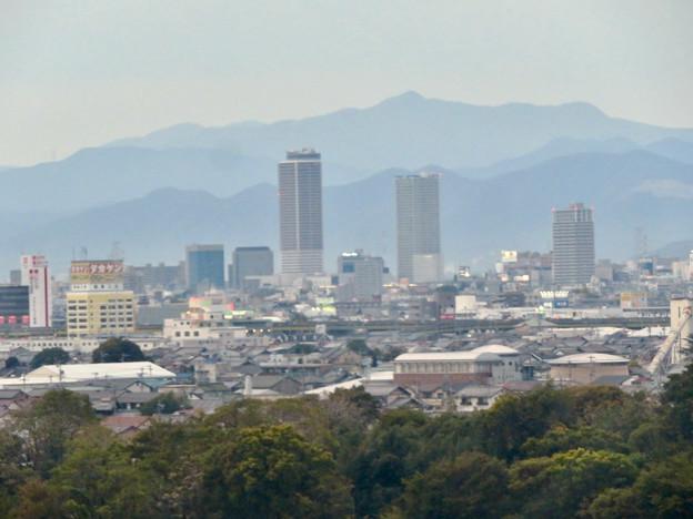オアシスホイールから見た景色:岐阜駅周辺のビル群 No - 2
