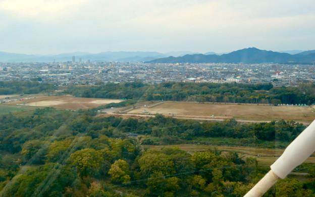 オアシスホイールから見た景色:岐阜方面