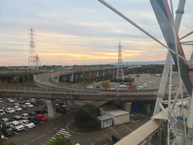 オアシスホイールから見た景色:東海北陸自動車道 No - 1