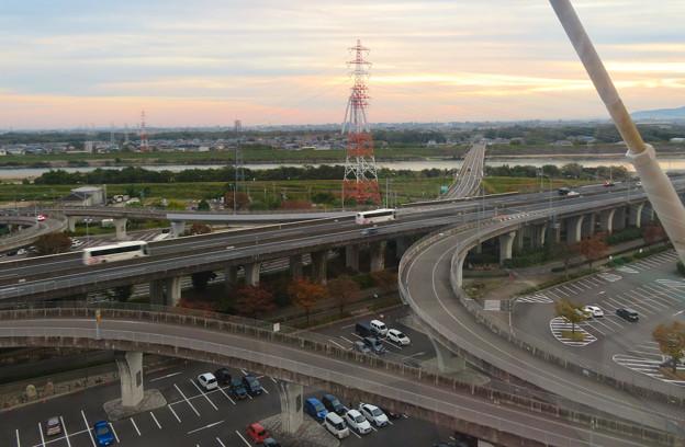 オアシスホイールから見た景色:東海北陸自動車道 No - 4