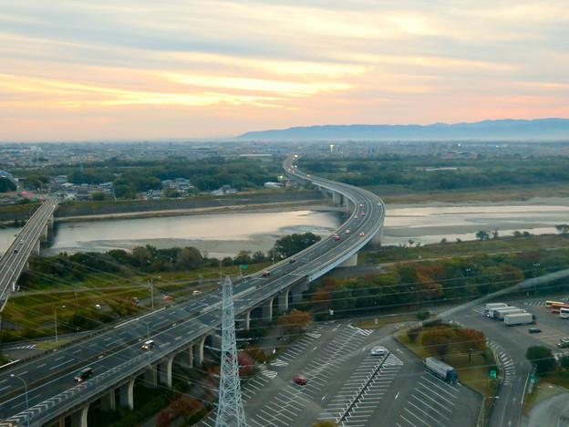 オアシスホイールから見た景色:東海北陸自動車道 No - 7