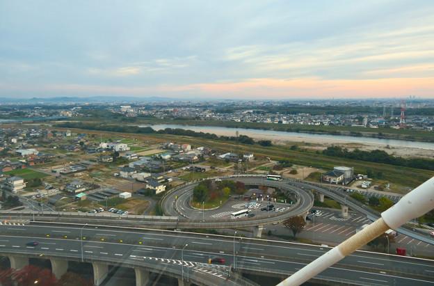 オアシスホイールから見た景色:木曽川 No - 1