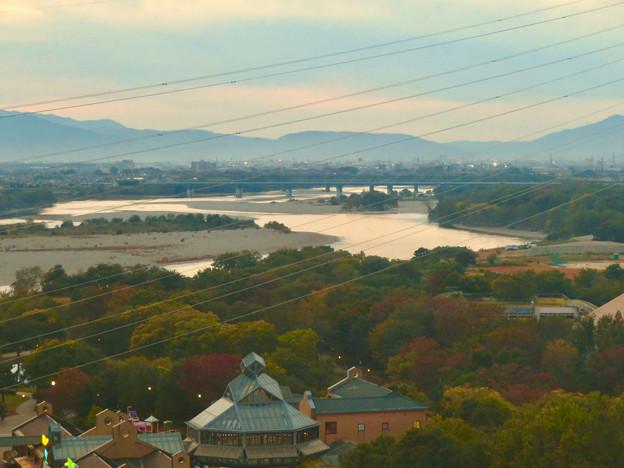 オアシスホイールから見た景色:木曽川 No - 3