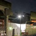 桃花台線の桃花台東駅周辺撤去工事(2019年11月12日):高架の片側のみが撤去 - 2