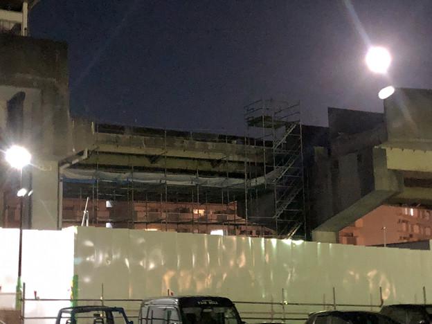 桃花台線の桃花台東駅周辺撤去工事(2019年11月12日):高架の片側のみが撤去 - 3
