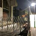 桃花台線の桃花台東駅周辺撤去工事(2019年11月12日):高架の片側のみが撤去 - 4