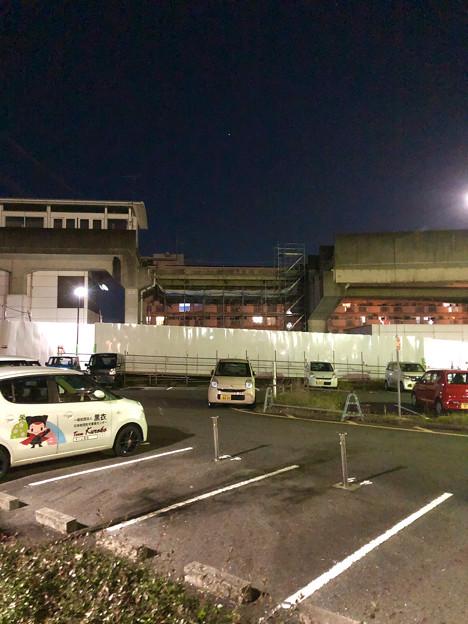 桃花台線の桃花台東駅撤去工事(2019年11月14日):反対側の高架も撤去開始 - 1