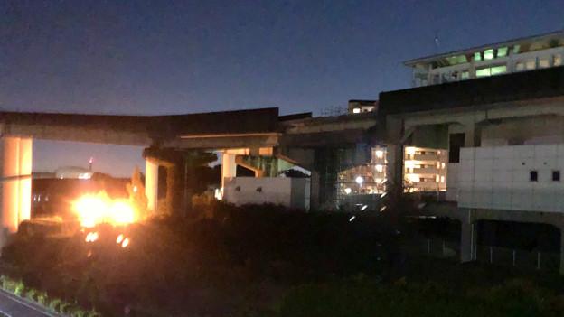 桃花台線の桃花台東駅撤去工事(2019年11月14日):反対側の高架も撤去開始 - 3