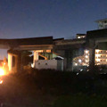 Photos: 桃花台線の桃花台東駅撤去工事(2019年11月14日):反対側の高架も撤去開始 - 3