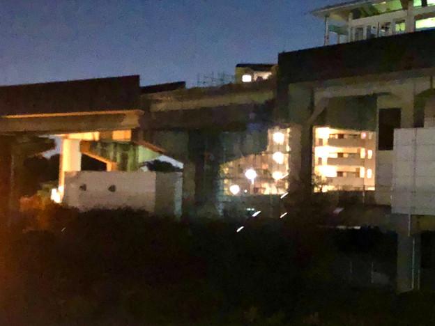 桃花台線の桃花台東駅撤去工事(2019年11月14日):反対側の高架も撤去開始 - 4