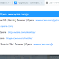 Photos: Opera 65:アドレスバー検索時の色が青色に - 2