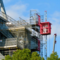 Photos: リニューアル工事中の久屋大通公園(2019年11月16日)- 7:テレビ塔の周りにも建物?それとも単なる工事用??(エレベーターが設置)