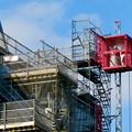 Photos: リニューアル工事中の久屋大通公園(2019年11月16日)- 8:テレビ塔の周りにも建物?それとも単なる工事用??(エレベーターが設置)