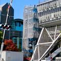 リニューアル工事中の久屋大通公園(2019年11月16日)- 10:テレビ塔の周りにも建物?それとも単なる工事用??