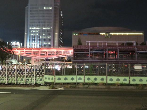 リニューアル工事中の久屋大通公園(2019年11月16日)- 12:建設中の建物