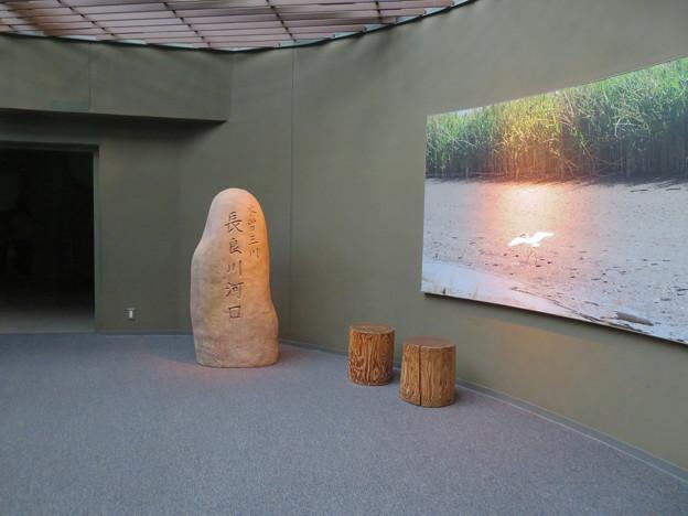 アクア・トトぎふ No - 112:長良川河口と掘られた石碑