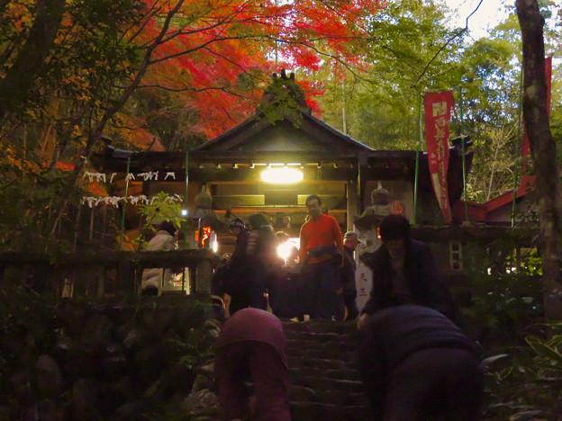 岩谷堂公園 紅葉ライトアップ(2019年11月17日)- 36:毘沙門堂