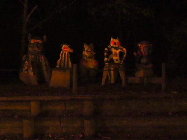 東山動植物園 紅葉ライトアップ(2019年11月17日)- 23:謎の像