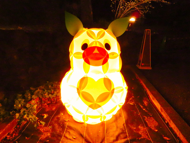 東山動植物園 紅葉ライトアップ(2019年11月17日)- 26:ズーボのイルミネーション