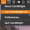 メニューバーからナイトシフトできるMacアプリ「Candlelight」- 1
