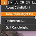 Photos: メニューバーからナイトシフトできるMacアプリ「Candlelight」- 1