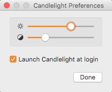 Photos: メニューバーからナイトシフトできるMacアプリ「Candlelight」- 2:設定