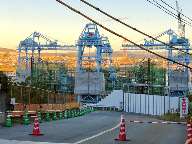 建設中のリニア中央新幹線の非常口(2019年11月20日)- 2
