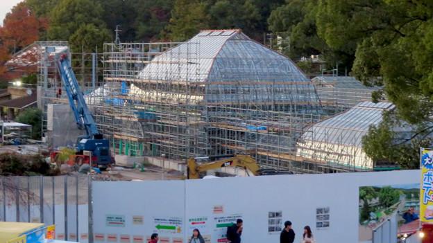 保存修理工事中の東山動植物園の温室(2019年11月16日)- 2