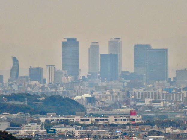 定光寺展望台から見た景色(2019年11月) - 4:名駅ビル群