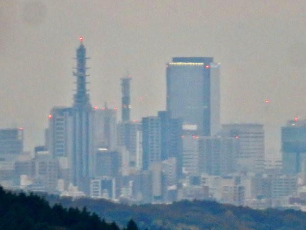 定光寺展望台から見た景色(2019年11月) - 11:NTTドコモ名古屋ビルと中京テレビ本社、グローバルゲート