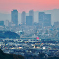 Photos: 定光寺展望台から見た夕暮れ時の景色 No - 1:名駅ビル群