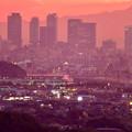 Photos: 定光寺展望台から見た夕暮れ時の景色 No - 20:名駅ビル群