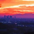 Photos: 定光寺展望台から見た夕暮れ時の景色 No - 21:名駅ビル群