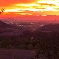 定光寺展望台から見た夕暮れ時の景色 No - 22:名古屋方面
