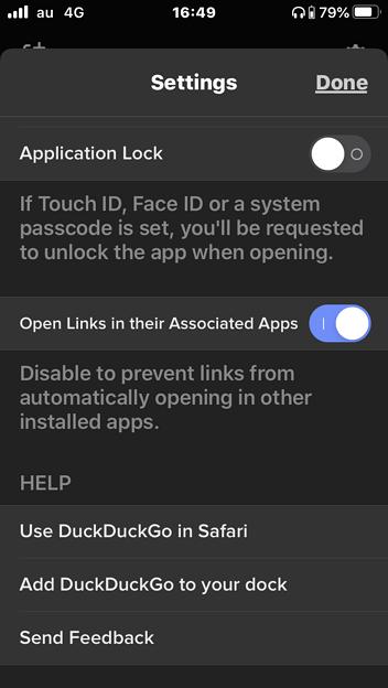 DuckDuckGoブラウザ 7.33.1:URLをそれぞれのアプリで開く設定 - 2