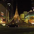撤去予定の名古屋駅前ロータリーの「飛翔」- 2