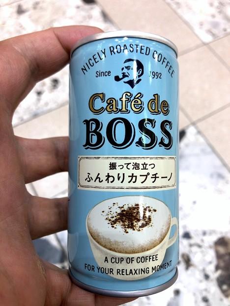 缶コーヒー「BOSS 振って泡立つ ふんわりカプチーノ」- 1